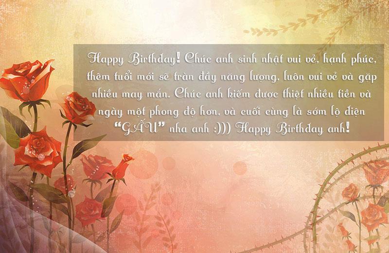 lời chúc sinh nhật bựa